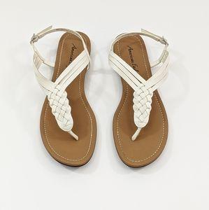 American Eagle Womens 11 Sandals White